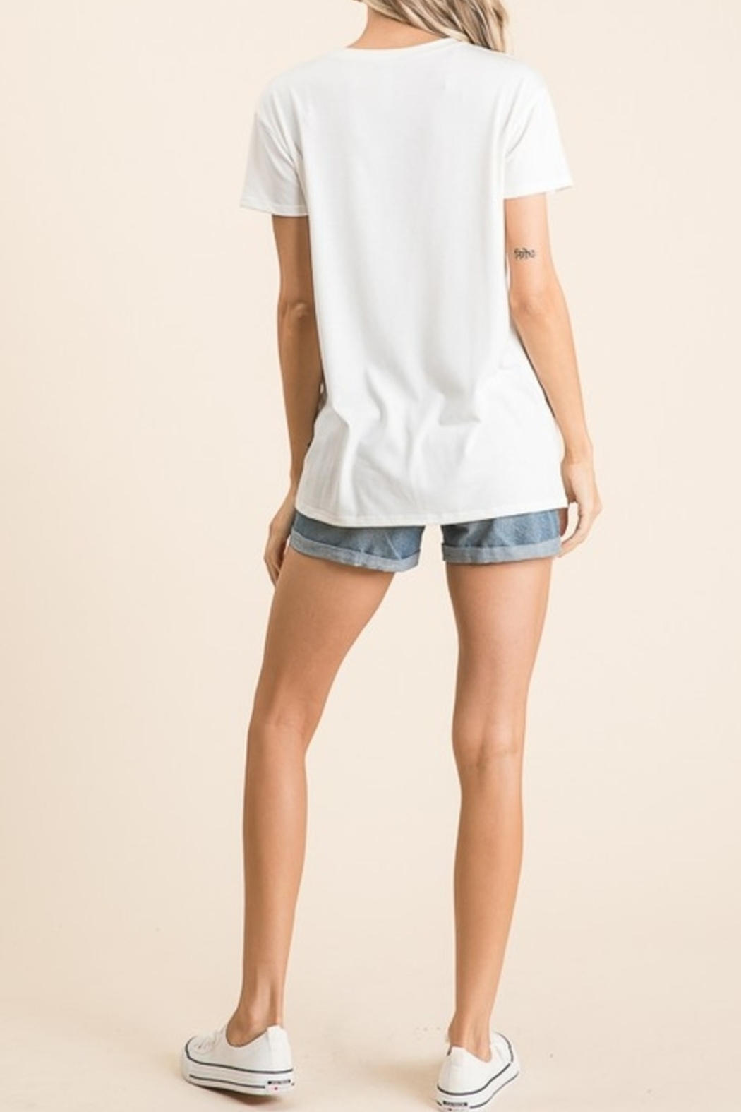 vanilla bay Rock It Out Tee - Front Full Image
