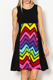 Rock N' Karma ZigZag Ticket Dress - Product Mini Image