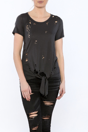 Rock Rose Couture Distressed Tie-Waist Top - Product Mini Image