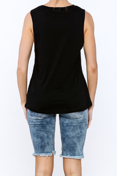 Rock Rose Couture Black Graphic Tank Top - Alternate List Image