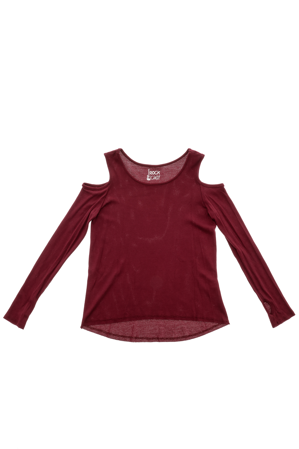 Rock Candy Cold Shoulder Thermal Top - Front Cropped Image
