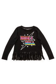 Rock Candy Rock N Roll Fringe Top - Front cropped