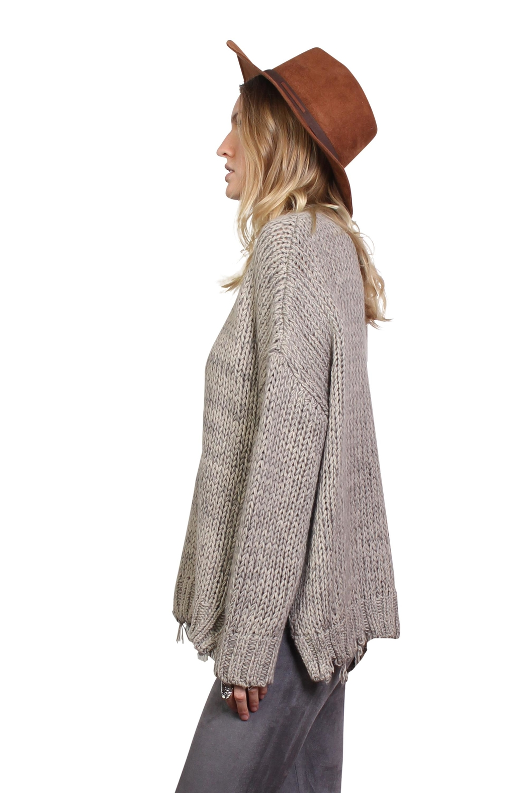 Rock Etiquette Bohemian Ring Sweater - Front Full Image