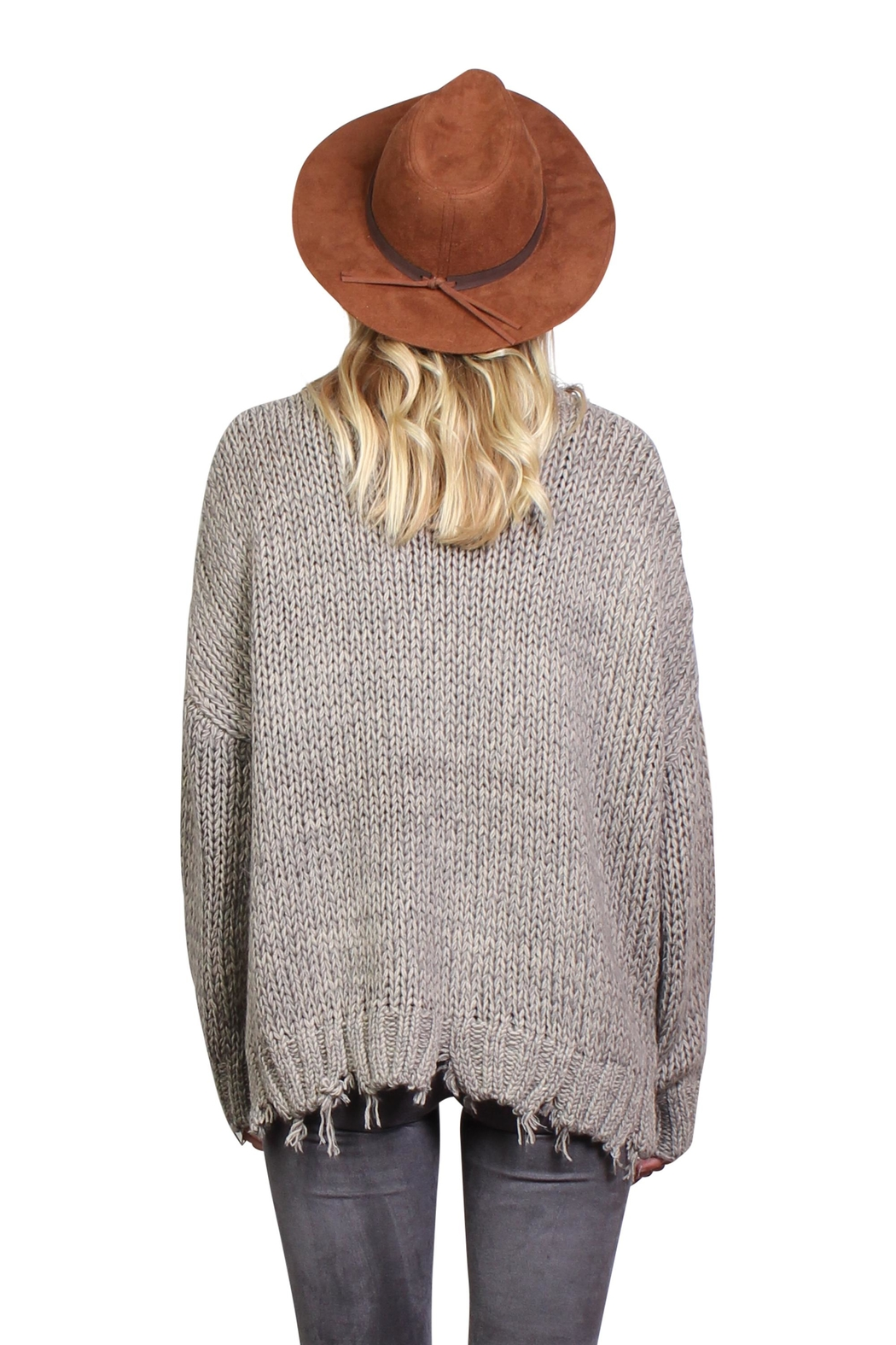 Rock Etiquette Bohemian Ring Sweater - Side Cropped Image