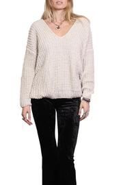 Rock Etiquette Cream Knit Sweater - Front cropped