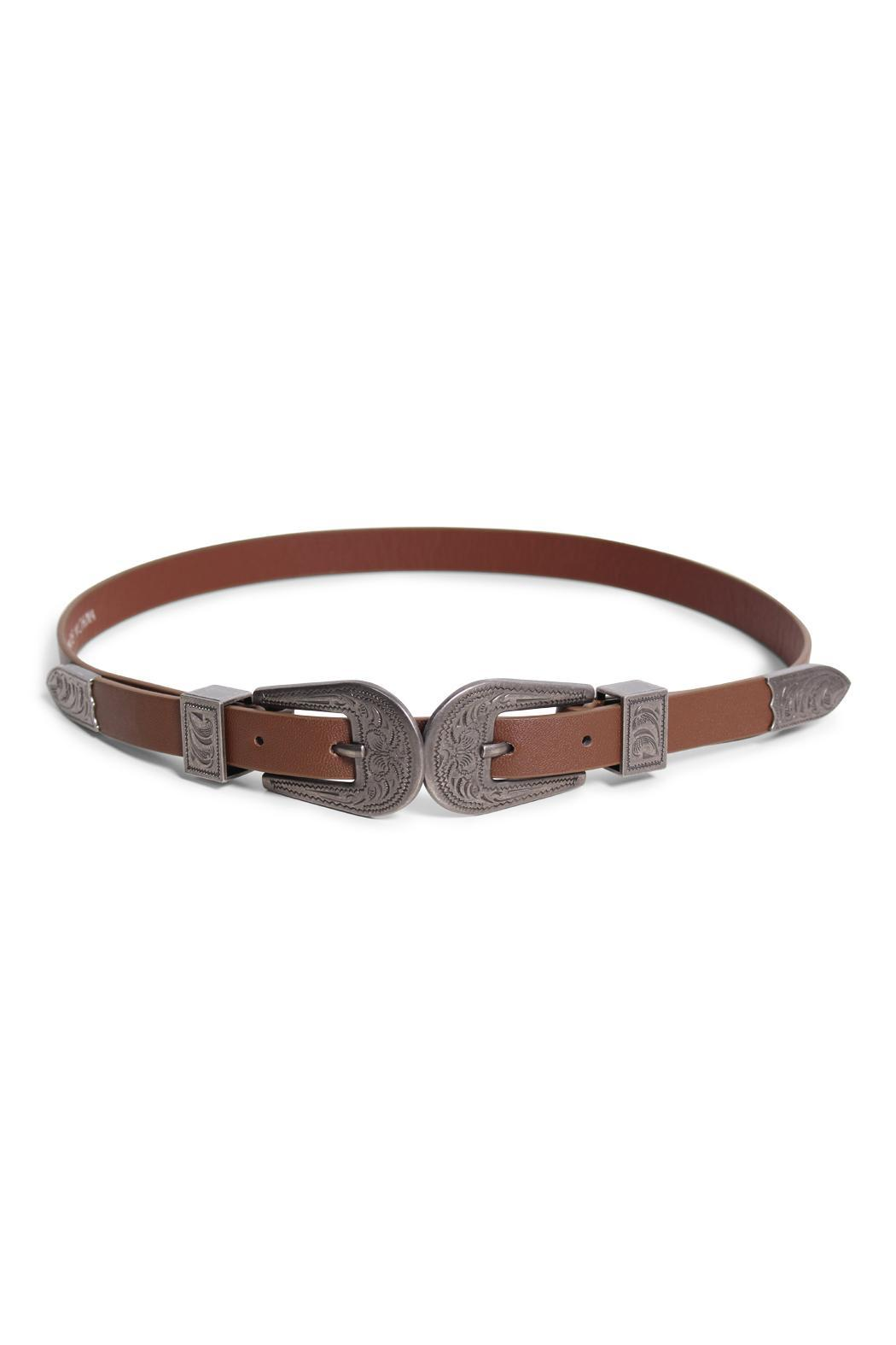 Rock Etiquette Double Buckle Belt - Front Cropped Image