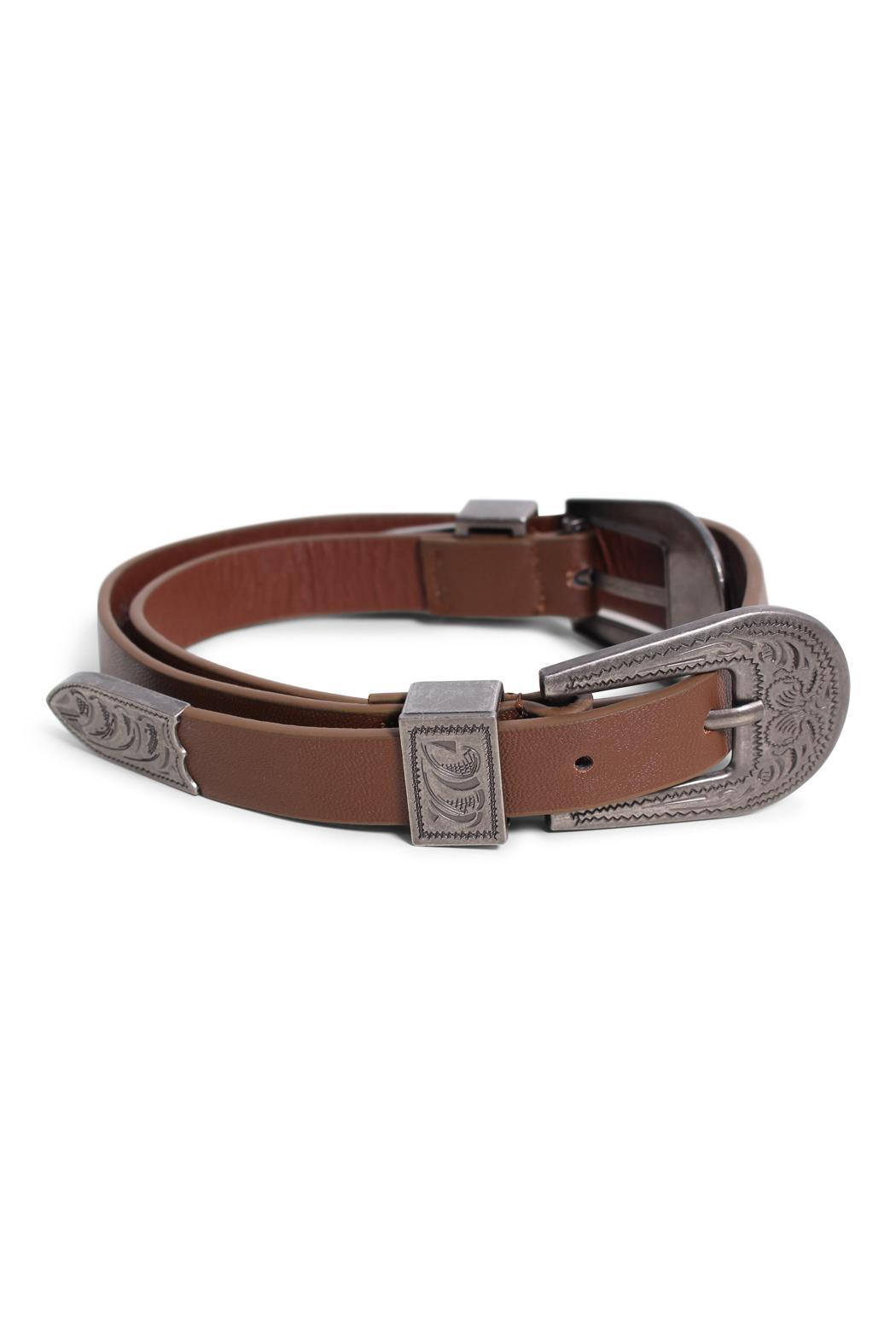 Rock Etiquette Double Buckle Belt - Back Cropped Image