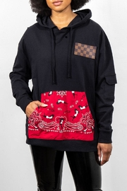 Rock Etiquette Red Bandana Hodie - Front cropped