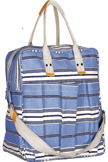 Rock Flower Paper Blue Overnighter Bag From Tennessee By Spa 9700