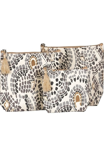 Rock Flower Paper Canvas Cosmetic Bags From Tennessee By Spa 9700