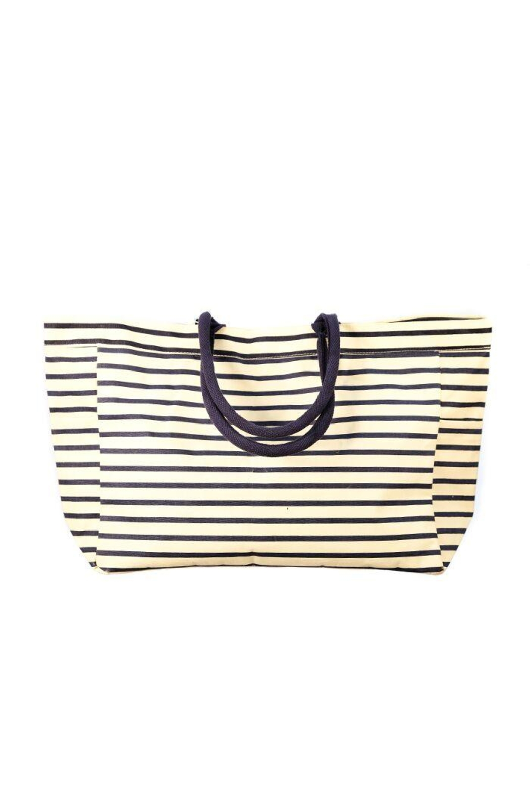 Rock Flower Paper Bateau Stripe Tote Bag - Front Cropped Image