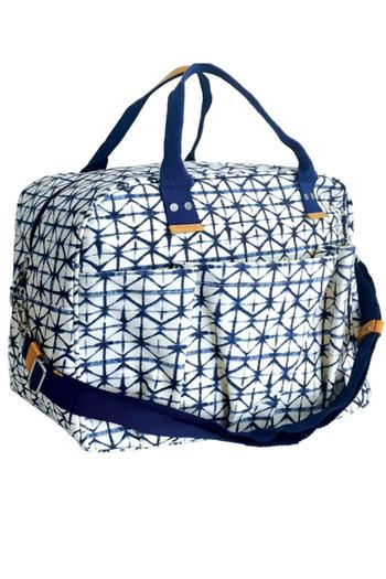 Rock Flower Paper Indigo Overnighter Bag From Kentucky By Simply B