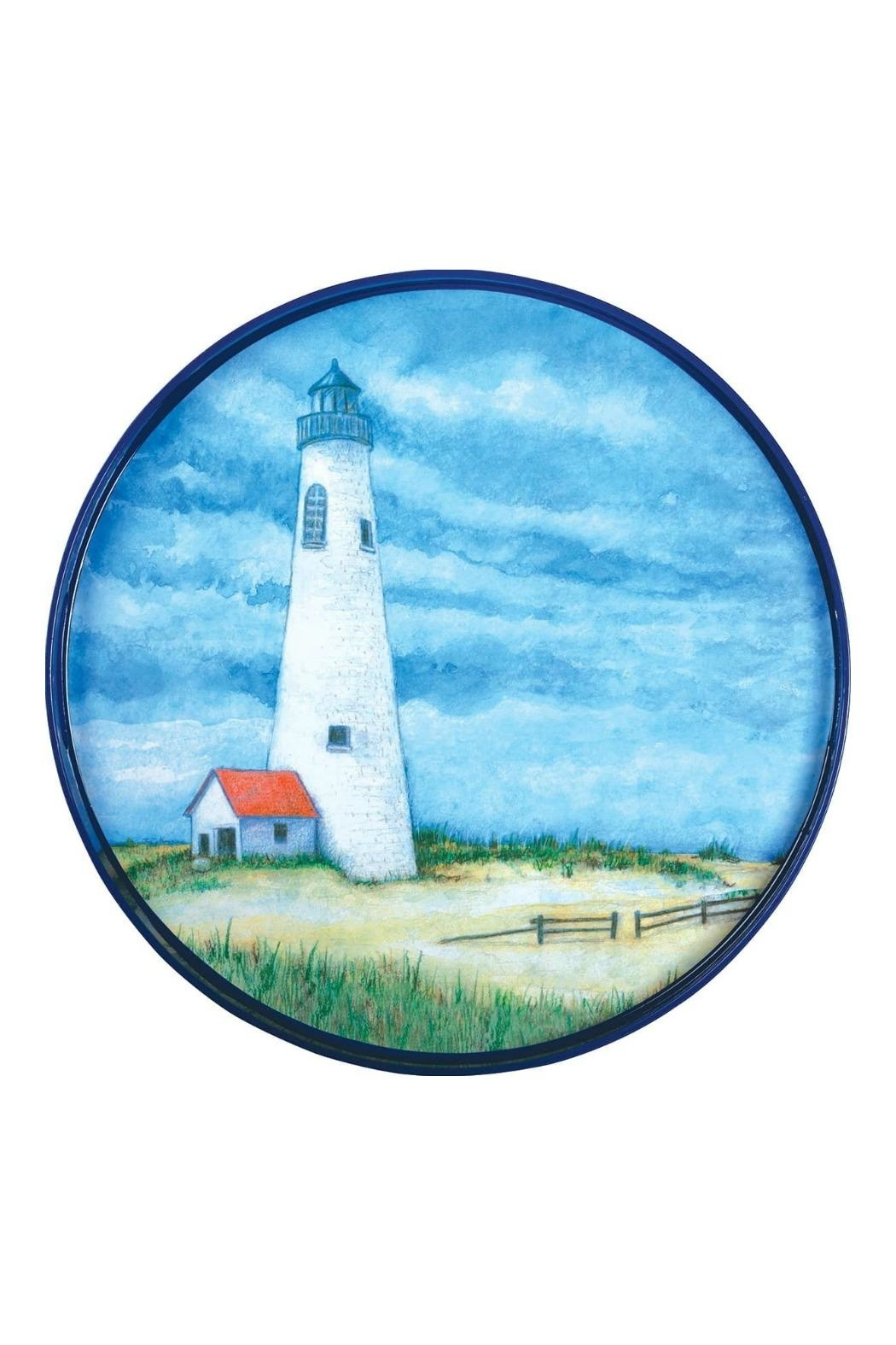 Rock Flower Paper Lighthouse Serving Tray - Main Image