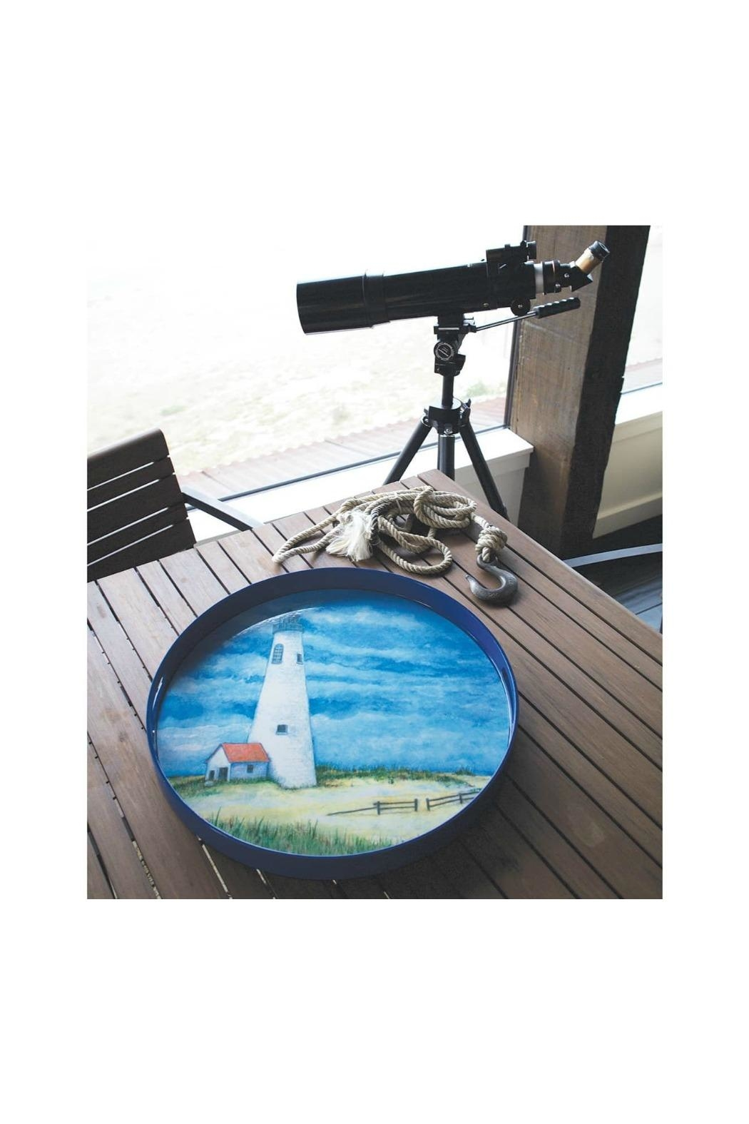 Rock Flower Paper Lighthouse Serving Tray - Front Full Image
