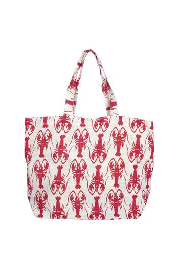 Rock Flower Paper Lobster Beach Bag From Dover By Pear Tree Gifts
