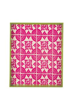 Rock Flower Paper Pink Lacquer Tray - Product List Image