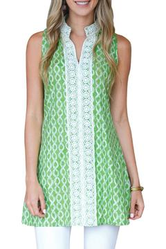 Rock Flower Paper Sleeveless Green Tunic - Product List Image