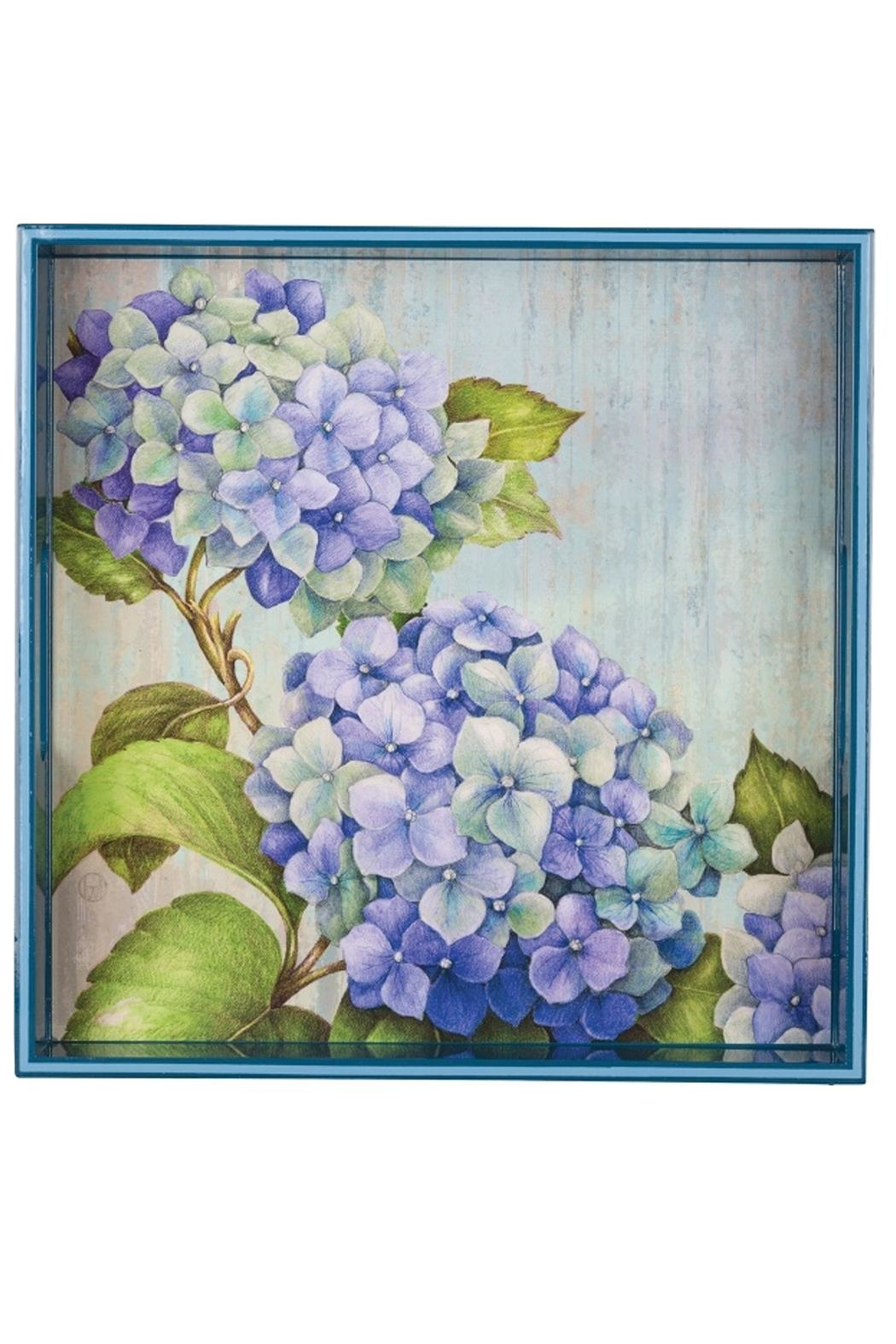 Rock Flower Paper Square Art Tray Front Cropped Image
