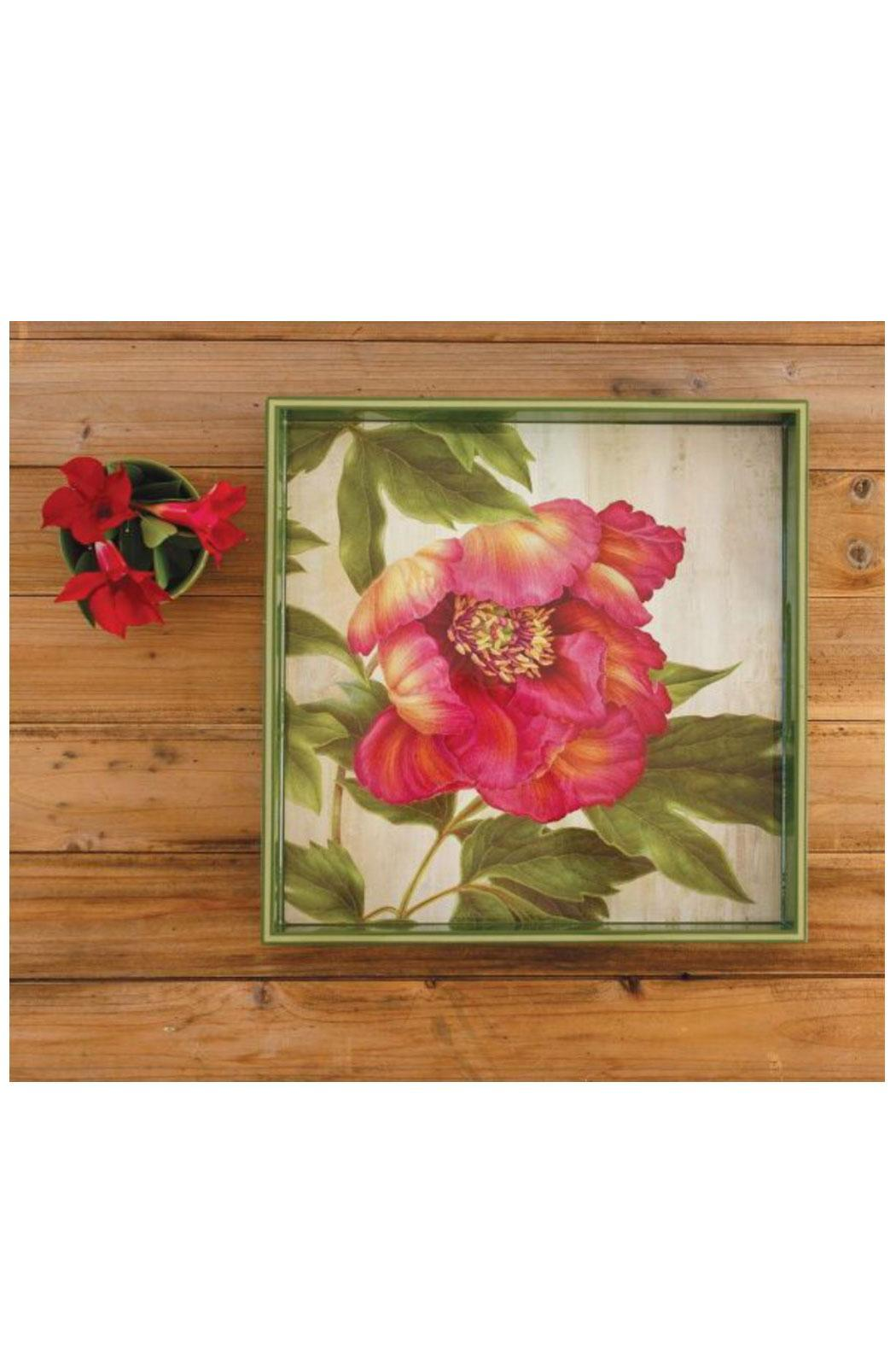Rock Flower Paper Square Art Tray - Front Full Image
