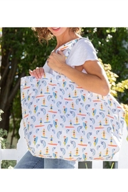 Rock Flower Paper Sufer Girl Tote - Front cropped
