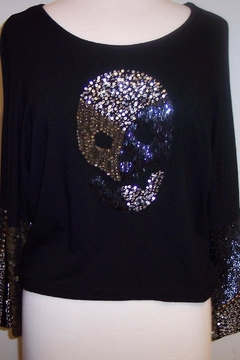 Shoptiques Product: Zone Skull Beaded Top