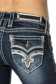 Rock Revival Crystal Embellished Lanlan Bootcut - Back cropped