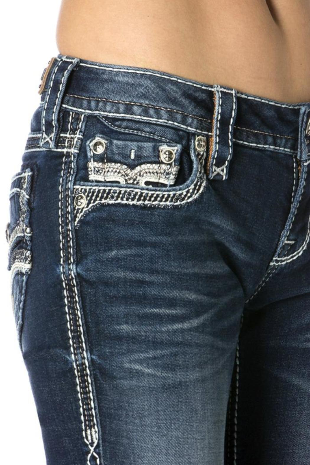 Rock Revival Crystal Embellished Lanlan Bootcut - Front Full Image