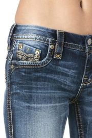 Rock Revival Orange Stitched Bootcut Jeans - Other