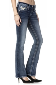 Rock Revival Reversed Bootcut Jeans - Product Mini Image