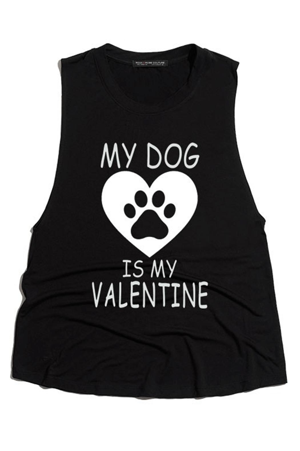 Rock Rose Couture Dog Valentine Top - Front Cropped Image