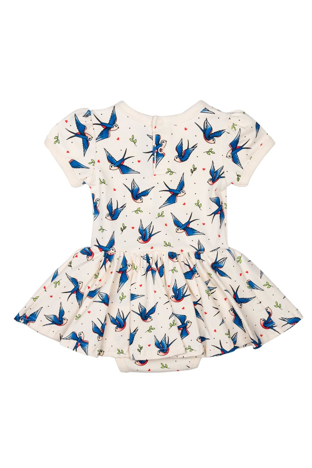 Rock Your Baby Blue Birds Dress - Front Full Image