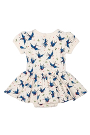 Rock Your Baby Blue Birds Dress - Front full body