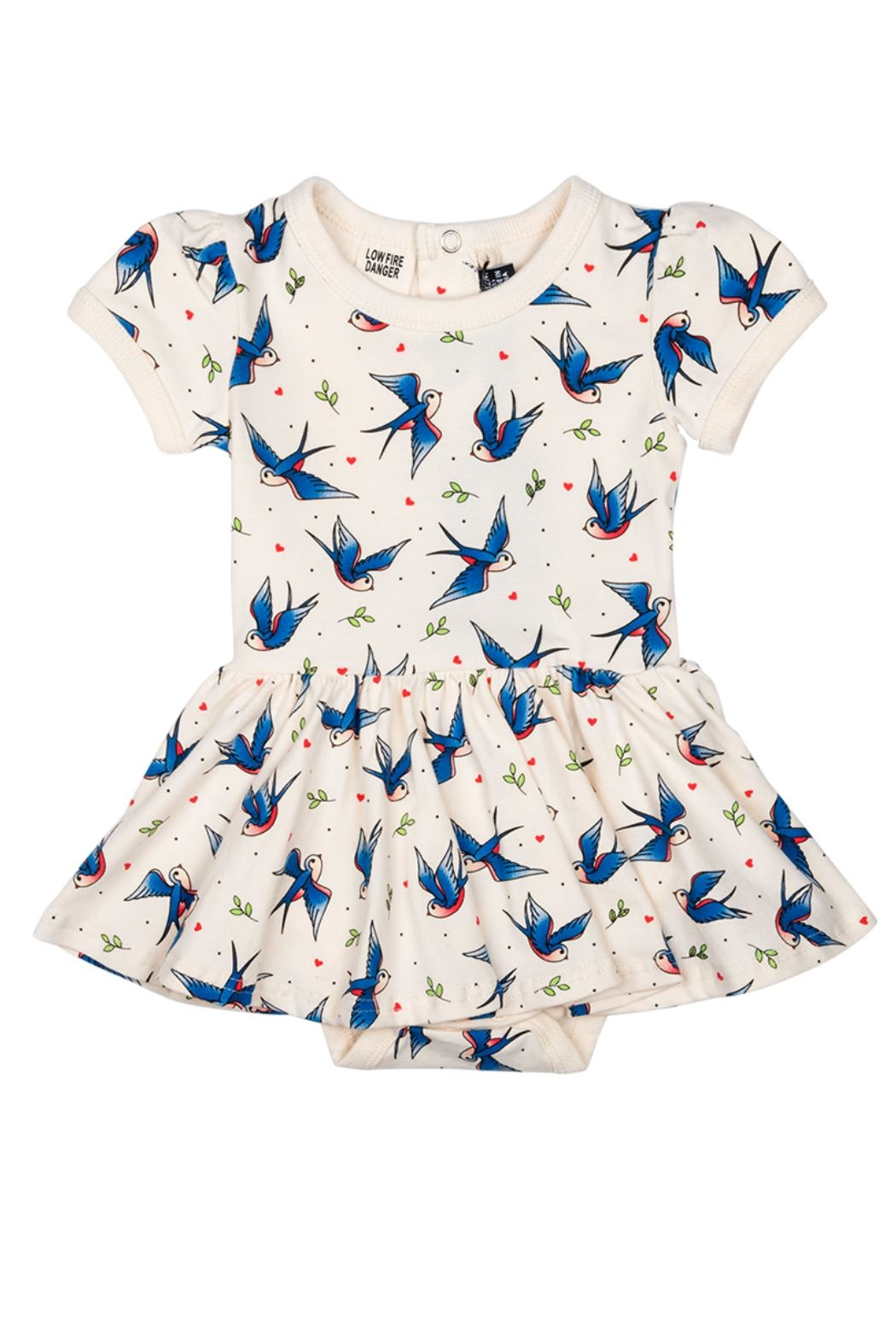 Rock Your Baby Blue Birds Dress - Main Image