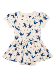 Rock Your Baby Blue Birds Dress - Front cropped