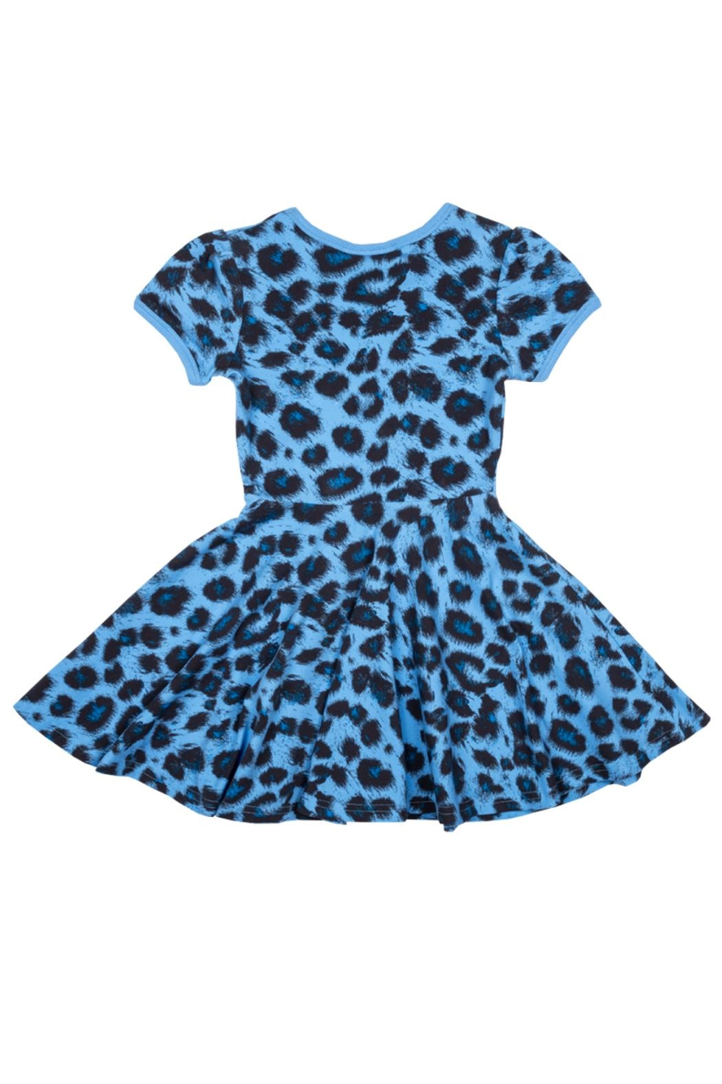 Rock Your Baby Blue Leopard Dress - Front Full Image