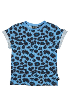 Rock Your Baby Blue Leopard Tee - Product List Image