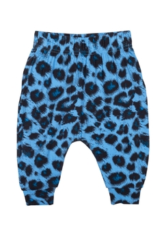 Rock Your Baby Blue Leopard Trousers - Product List Image