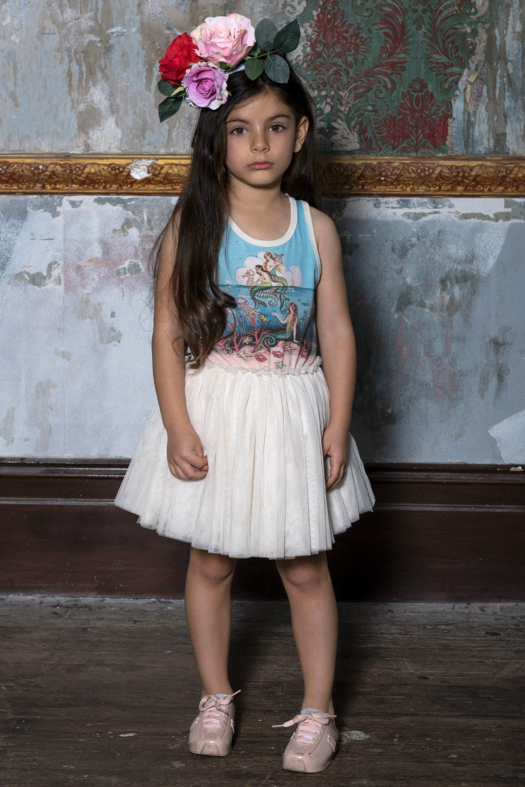 Rock Your Baby Little Mermaids Dress - Side Cropped Image
