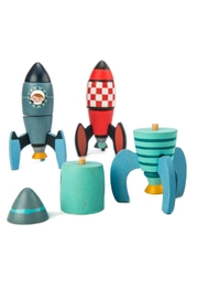 Tender Leaf Toys Rocket Construction Set - Front full body