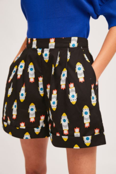 Compania Fantastica Rocket Print Shorts - Product List Image