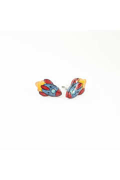 Poptone Co. Rocket Space Ship Stud Earrings - Product List Image