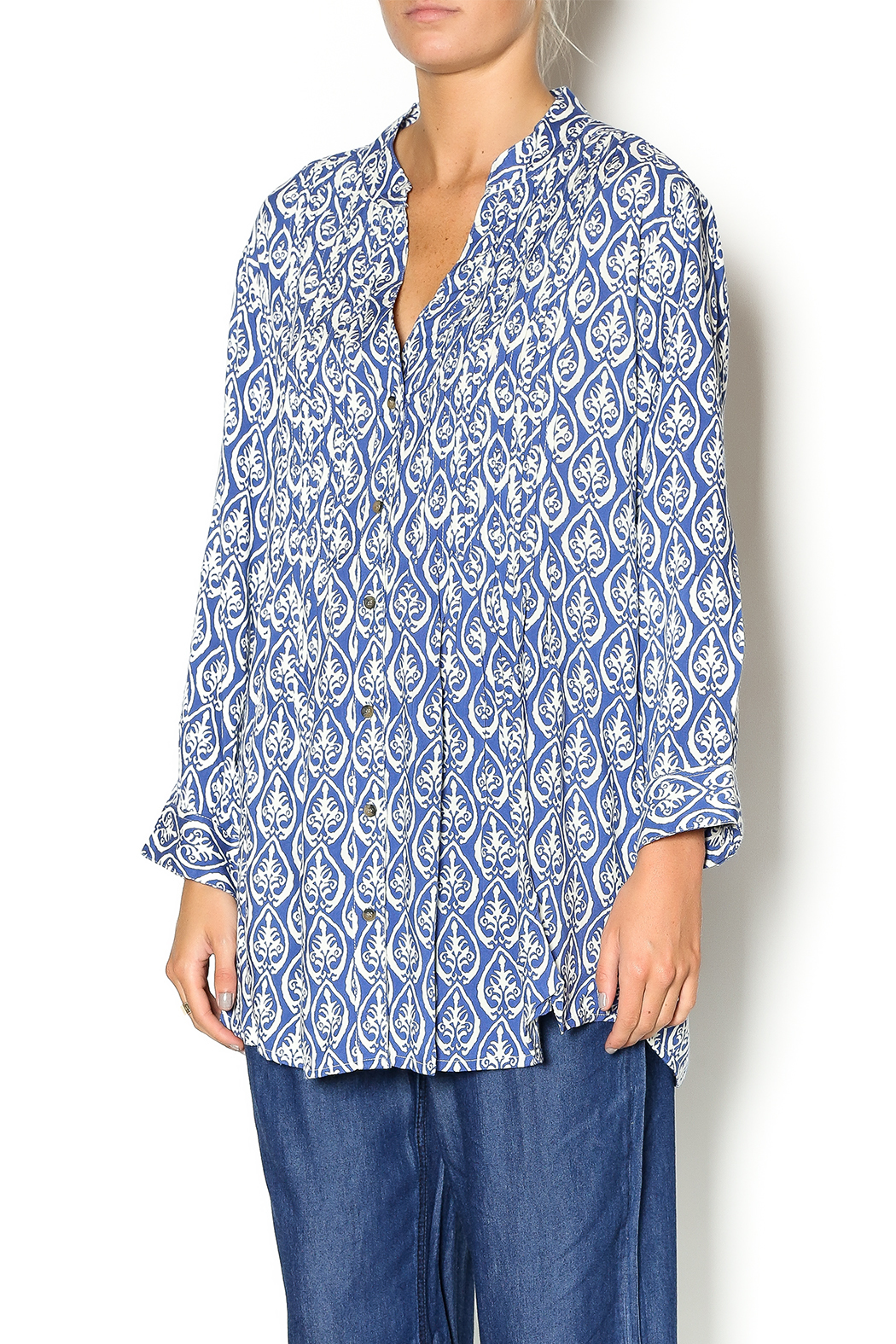 Rock flower paper pintuck cotton tunic from dallas by bradbury lane rock flower paper pintuck cotton tunic front cropped image mightylinksfo Gallery