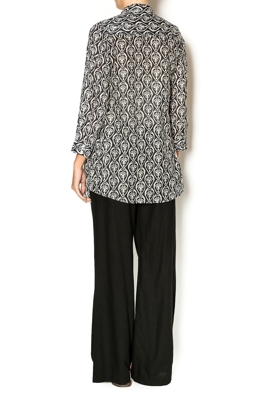 rock flower paper pintuck cotton tunic from dallas by
