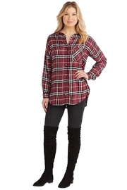 Mud Pie Rocky Flannel Button-Down - Front full body