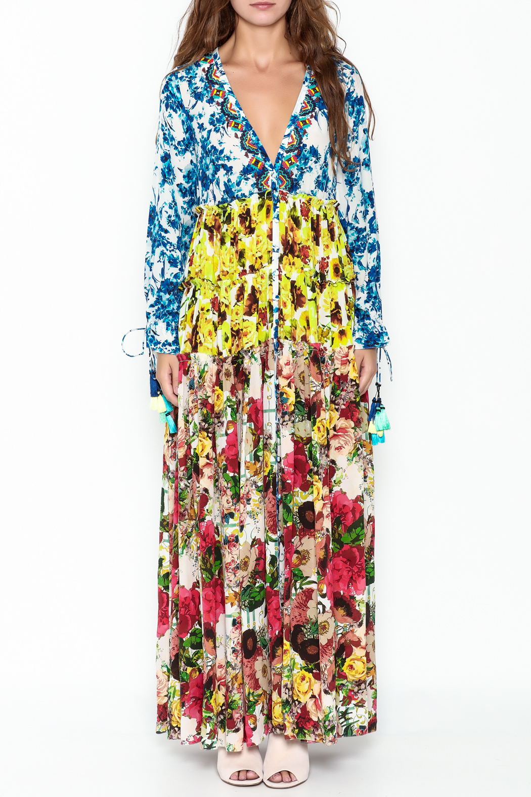 Rococo Sand Multicolored Maxi Dress - Front Full Image