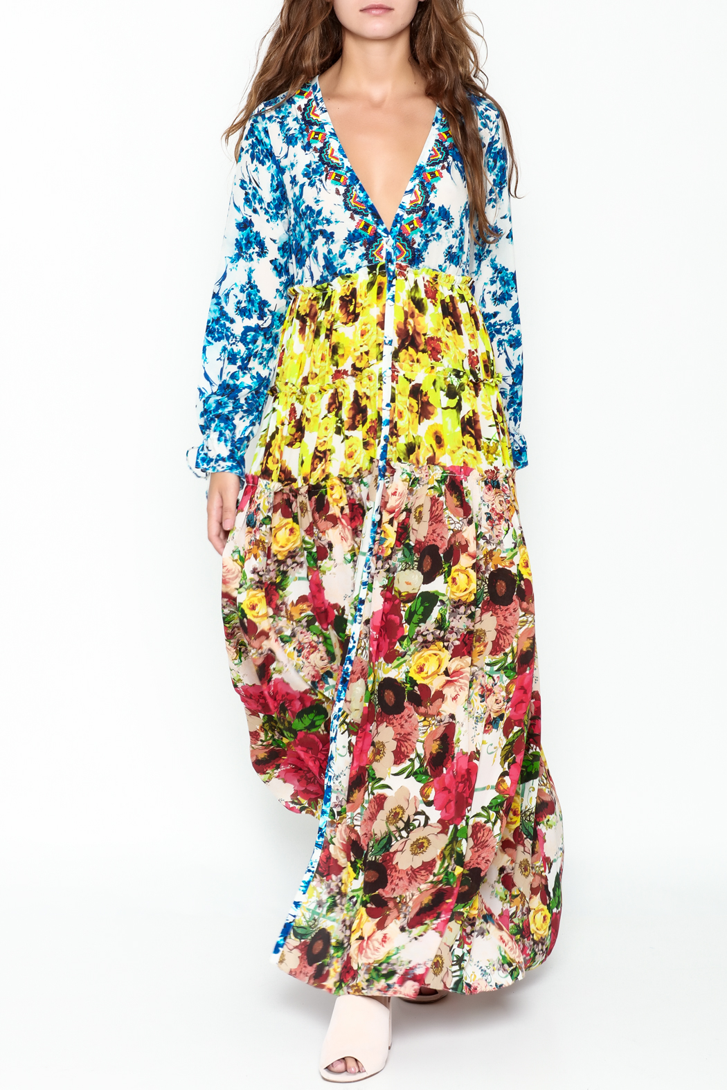 Rococo Sand Multicolored Maxi Dress - Main Image