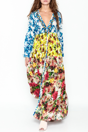 Rococo Sand Multicolored Maxi Dress - Front cropped