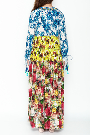 Rococo Sand Multicolored Maxi Dress - Back cropped