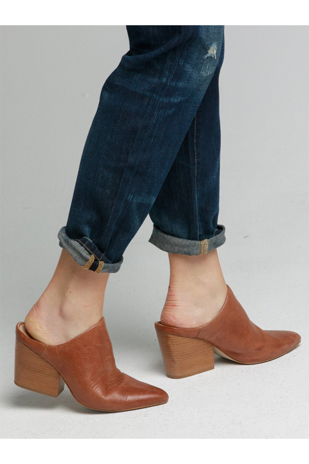 Able Rojas Mule In Cognac - Front Cropped Image