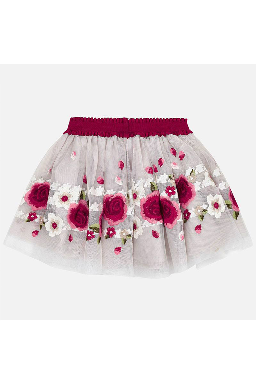 Mayoral Rojo Embroidered Skirt - Main Image